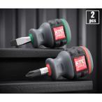 在庫有り KTC 樹脂柄スタッビドライバーお買い得2点セット D1PMS-2P(D1PS-2,D1MS-6)