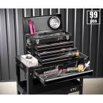 在庫少 KTC 6.3sq./9.5sq. 94点工具セットツールワゴン付 SK59419XXBKEM(特典付)ブラック  プロフェッショナルモデルの画像