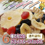 ドライフルーツ ミックス 6種 500g パイナップル ストロベリー アプリコット キウイ プルーン バナナ チャック付き袋