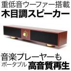 木目調ステレオロングスピーカー 正規販売店 WPLP-3500BR USB電源