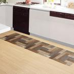 貼ってはがせる床リノベシート 90cm×180cm ペンキ組み木 ( リノベーション 床シート シール 模様替え フローリング 床デコ DIY)