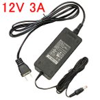 LEDテープライト用 AC100V→DC12V変換 3A電源アダプター 家庭用 [12V-3A]