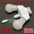 2灯ペンダントライト ソケット シーリングライト E26 照明器具 E26-2DL