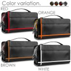 Under Arm Handbags - セカンドバッグ メンズ メンズセカンドバッグ 革 鞄 クロスライン ダブルファスナー 4色