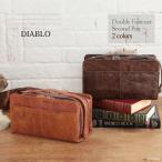 Under Arm Handbags - セカンドバッグ メンズ セカンドバック 本革 シワ加工 レザー ボックス型 ダブルファスナー DIABLO