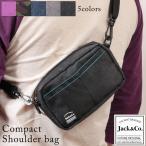 ミニショルダーバッグ メンズ ショルダーバック シンプル クリアポケット付き Jack&Co. BG-059 mlb
