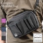 ミニショルダーバッグ メンズ ショルダーバック 多機能ポケット クリアポケット付き Jack&Co. BG-060 mlb