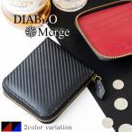 折財布 メンズ 短財布 ラウンドファスナー ラウンド短財布 メンズ折財布 カーボン加工 ボックス型 DIABLO Merge マージディアブロ MGD-1942 mlb