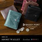 財布 メンズ 二つ折り 革 本革 ラウンドファスナー ソフトキップレザー BAGGY PORT HRD-102