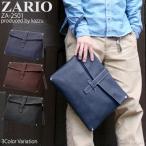 雅虎商城 - クラッチバッグ メンズ メンズクラッチバッグ フェイクレザー センターベルト 2way ショルダー付き ZARIO ZA-2501
