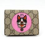 グッチ GGスプリーム ボスコアップリケ 506277 レディース GGスプリーム 財布(二つ折り) ベージュ