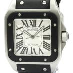 カルティエ  サントス 100 LM ステンレススチール ラバー 自動巻き メンズ 時計 W20121U2 【中古】