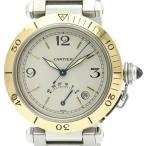 カルティエ  パシャ 38 パワーリザーブ K18 ゴールド ステンレススチール 自動巻き メンズ 時計 W31012H3 【中古】