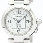 カルティエ  パシャC ビッグデイト ステンレススチール 自動巻き ユニセックス 時計 W31055M7 【中古】