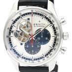 ゼニス  エルプリメロ クロノマスター 1969 ステンレススチール レザー 自動巻き メンズ 時計...