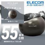 バランスボール 55cm エレコム エクリアスポーツ 耐荷重500kg 専用 ハンド ポンプ付き 空気入れ アンチバースト バランス ボール ブラック┃HCF-BB55BK