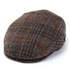 ハンチング 帽子 メンズ カシュケット ハリスツイード ハンチング帽 秋冬 ウール インポート KASZKIET ブラウン モス系