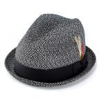 ショッピングストローハット ストローハット ハット メンズ レディース 帽子 ニューヨークハット 春夏 2269 SewnMixStingy ブラック BLACKMIX