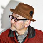帽子 ハット メンズ カシミヤ100% ボルサリーノ 折りたたみ可能 キャメル