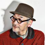 紳士 帽子 メンズ Borsalino ハット ボルサリーノ コーデュロイ アルペンハット ブラウン 茶