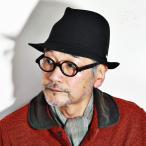 帽子 メンズ ハット メンズ 中折れハット ボルサリーノ スエード borsalino 中折れ帽子 秋冬 ブラック
