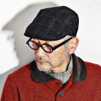 ボルサリーノ ハンチング Lanificio di Pray 生地 チェック柄 秋冬 メンズ 帽子 ブラウン