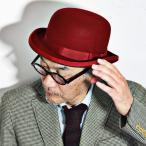 CHRISTYS' LONDON 帽子 ボーラーハット クリスティーズロンドン ダービーハット フェルトハット メンズ レディース 秋冬 レッド 赤