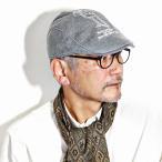 ニット ハンチング メンズ シナコバ 帽子 SINACOVA 秋冬 日本製 グレー