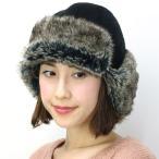 Barairoの飛行帽 バラ色の帽子 レディース ハット 帽子 秋冬 日本製 Barairo no boushi ハンドメイド クロ ブラック