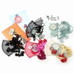 布マスク かわいい マスクカバー 洗える チュール レース 花 ネコ リボン 日本製 Barairo no Boushi 個性的 おしゃれ 花 飾り付き 涼しい