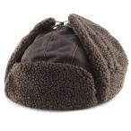 フライトキャップ ヴィンテージ風 トラッパー 飛行帽 ウェザードコットン weathered cotton DPC  帽子 メンズ/茶 ブラウン