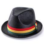 帽子 レディース メンズ ハット ピーターグリム ラスタカラーリボン pgf1170 ROCCO ブラック