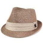 ハット メンズ 帽子 ファッション 麻 リネン 中折れ帽 光沢 春 夏 ステイシーアダムス インポート ベージュ