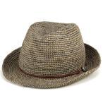 ショッピングストローハット ストローハット 帽子 ハット メンズ レディース 麦わら帽子 大きいサイズ あり 中折れハット 夏 ラフィアハット グレー
