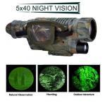 送料無料 新品●レコーダー内蔵 赤外線 ナイトビジョン 5X40 IR単眼望遠鏡●暗視スコープ 暗視ゴーグル サバゲー 8G マイクロSDカード内蔵
