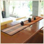 ショッピングテーブル テーブルランナー バナナリーフのカラフルなテーブルランナー オレンジ アジア工房