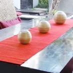 テーブルランナー ウォーターヒヤシンス製テーブルランナー レッド