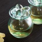 アロマボトル スパボトル ガラス プルメリア オイルボトル アメニティ おしゃれ リゾート 小物 ガラス容器 ガラス瓶 12750