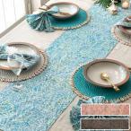 テーブルランナー バティック 布 さらさ 更紗 インドネシア バリ島 約35×143 テーブルクロス テーブルライナー 手染め ろうけつ染め マルチクロス タペストリー