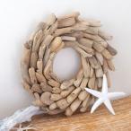 クリスマスリース 円形 ウッドリース 壁掛け ウォールデコレーション リース 流木 オブジェ クリスマス  壁面 約 H 35 × D 5 × W 35 木製  木 おしゃれ