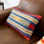 クッションカバー コットンキリム インド綿 約30×50cm おしゃれ 長方形 コットン 綿100 ネイティブ 民族 オルテガ モダン アジアン C