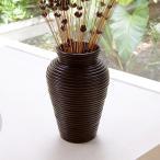 アジアン雑貨 ぐるぐるラタンの小さな壺 アートプランツベース アジア工房 6253