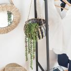 フェイクグリーン グリーンネックレス 観葉植物 おしゃれ 吊るす 垂らす 壁掛け インテリア エアープランツ 多肉植物 リアル 造花 ナチュラル インドア 観賞用