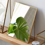 Yahoo!ELEMENTSスタンドミラー 鏡 かがみ カガミ ミラー 卓上鏡 テーブルミラー アンティーク調 四角 スクエア Lサイズ 化粧鏡 可愛い メイクアップミラー 軽量 インテリア雑貨