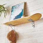 ウォールシェルフ スケートボード 木製 ラック ウォール シェルフ ウッド 棚 壁掛け 壁面 収納 幅約80cm 本物 ボード 西海岸 66890