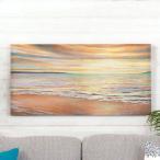 アートパネル 海 キャンパス アートフレーム 額 アートポスター 約80cm×40cm 西海岸 ハワイ グアム バリ セブ 壁掛け インテリア おしゃれ 66965