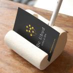 カードスタンド ペン立て付き カード立て 写真立て 名刺スタンド ペンスタンド パラス石 アジアン バリ雑貨 ホワイト おしゃれ 8315