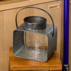 Yahoo!ELEMENTSフラワーベース テラリウム ランタン ブリキ ガラス製 L ハンドル 花瓶 ディスプレイ用 キャンドルスタンド ろうそく立て おしゃれ 照明器具