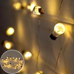 Yahoo!ELEMENTSイルミネーションライト LEDライト 電飾 ガーランド クリスマスツリー装飾 豆電球 乾電池式 約2m以上 照明器具