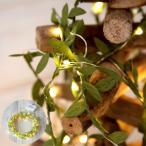 Yahoo!ELEMENTSイルミネーションライト LEDライト 電飾 ガーランド クリスマスツリー装飾 リモコン付き グリーンリーフ 乾電池式 照明器具